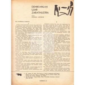 cerpen-friedrich-nietzsche-terj-hb-jassin-demikianlah-ujar-zarathustra-horison-no1th3-januari-1968